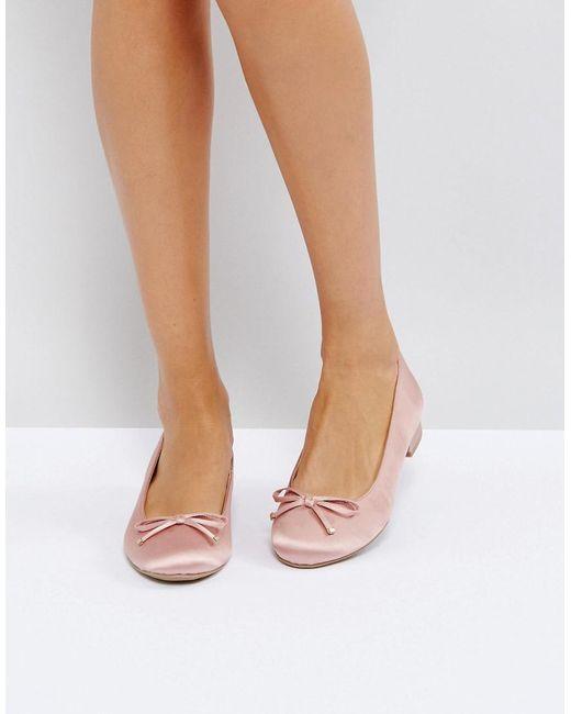 Call It Spring - Pink Desarro Satin Ballerina Shoes - Lyst