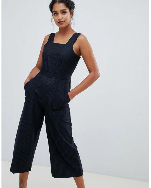Closet - Black Tailored Culotte Jumpsuit - Lyst