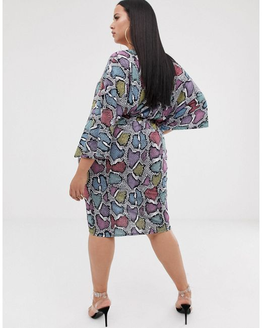 Платье Миди С Анималистичным Принтом -мульти Flounce London, цвет: Multicolor