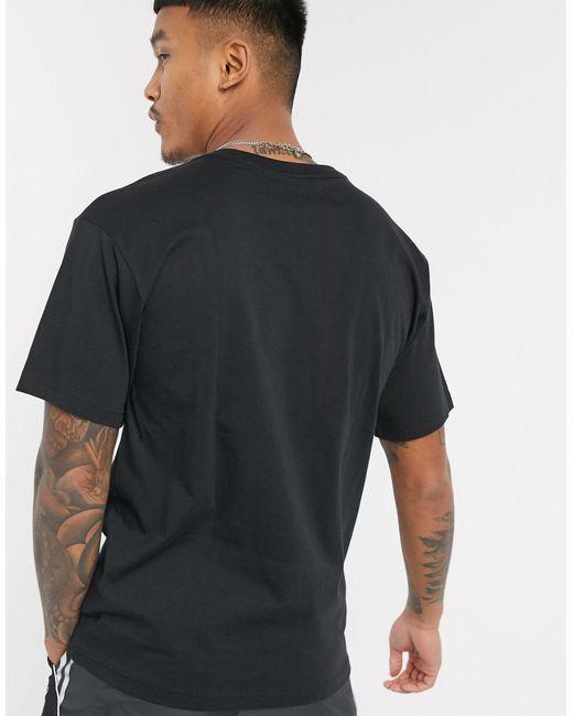 Черная Футболка С Логотипом-трилистником -черный Adidas Originals для него, цвет: Black
