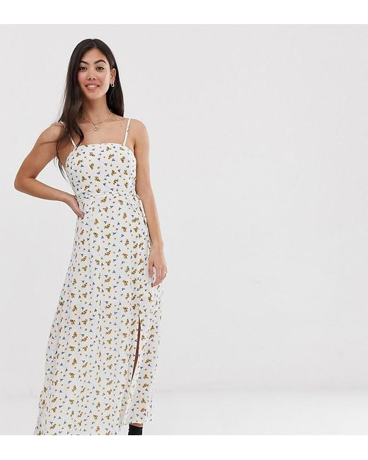 New with Tags GRACE Ditsy floral print maxi dress with gathered waist detail