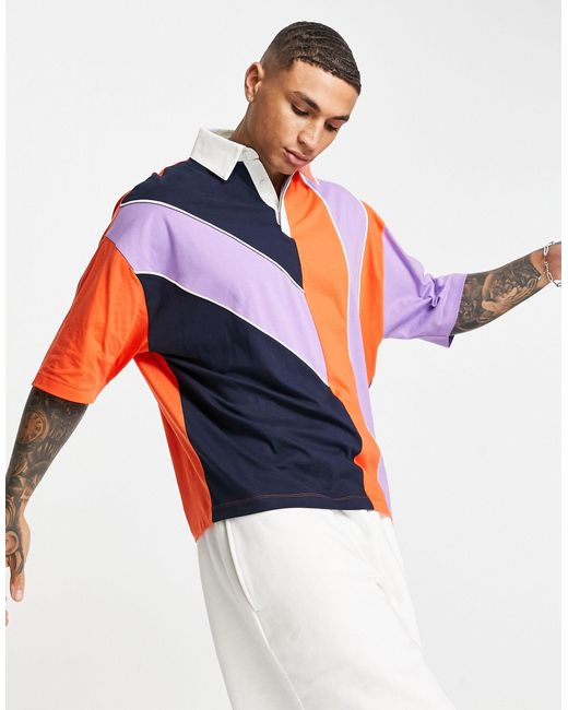 ASOS Multicolor Oversized Polo T-shirt for men