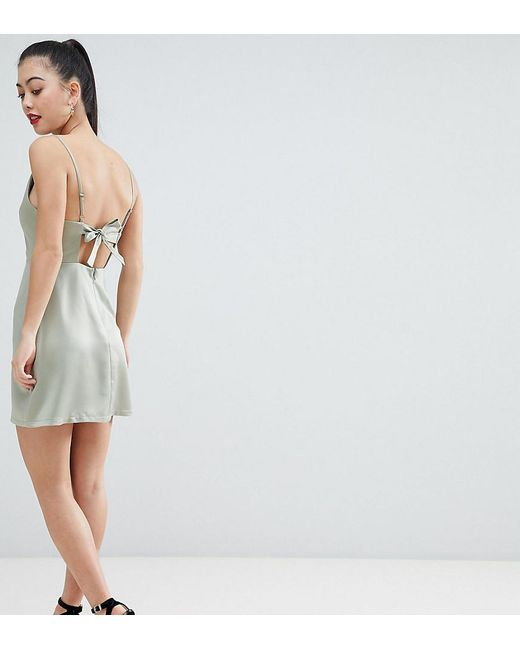 ASOS Green Asos Design Petite Cowl Neck Mini Dress