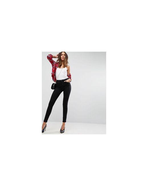 ASOS Black 'sculpt Me' High Waisted Premium Jeans