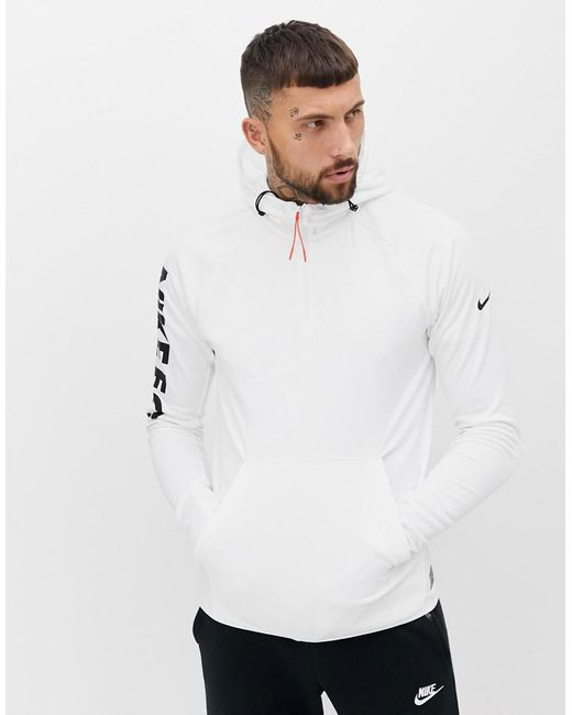 113f03772 Nike Fc Logo Hoodie In White in White for Men - Lyst