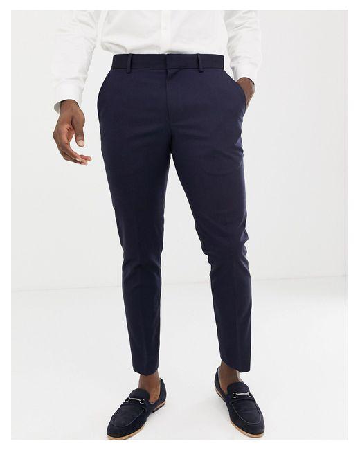 Burton Blue Wedding Skinny Fit Suit Trousers for men