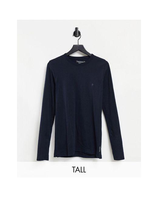 Базовый Лонгслив Темно-синего Цвета Tall-темно-синий French Connection для него, цвет: Blue