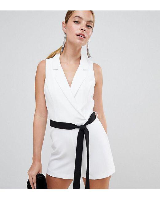 Miss Selfridge - White Tie Waist Playsuit - Lyst