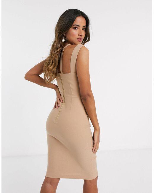Платье Миди С Бретельками -коричневый Vesper, цвет: Brown