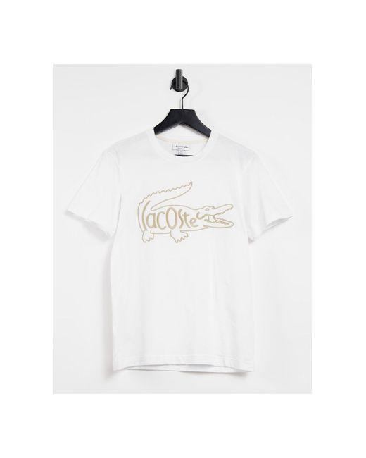 Белая Футболка С Большим Логотипом С Крокодилом -белый Lacoste для него, цвет: White