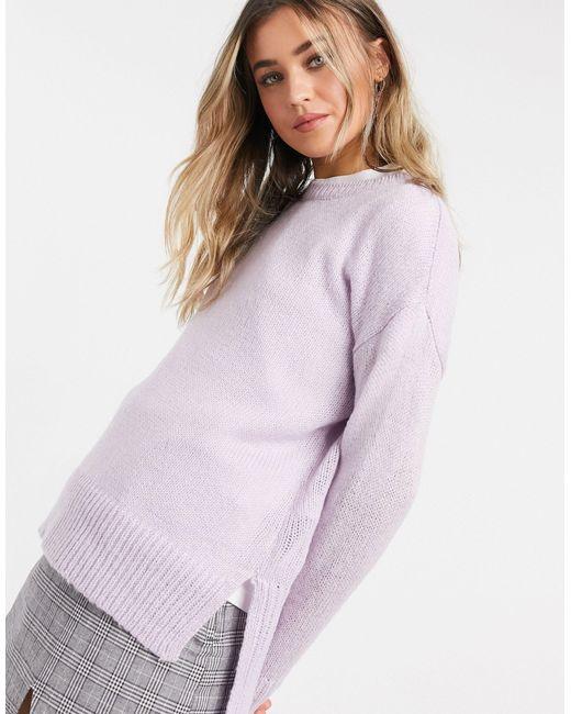 Maglione girocollo lilla di New Look in Purple