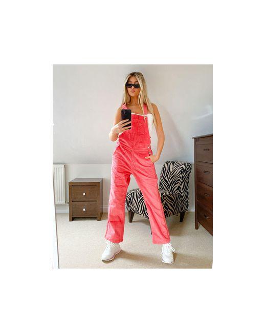 Розовый Вельветовый Комбинезон 'comfy Cords' Adidas Originals, цвет: Pink