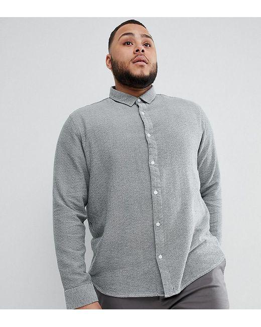 Only & Sons - Green Slim Fit Melange Cotton Shirt for Men - Lyst