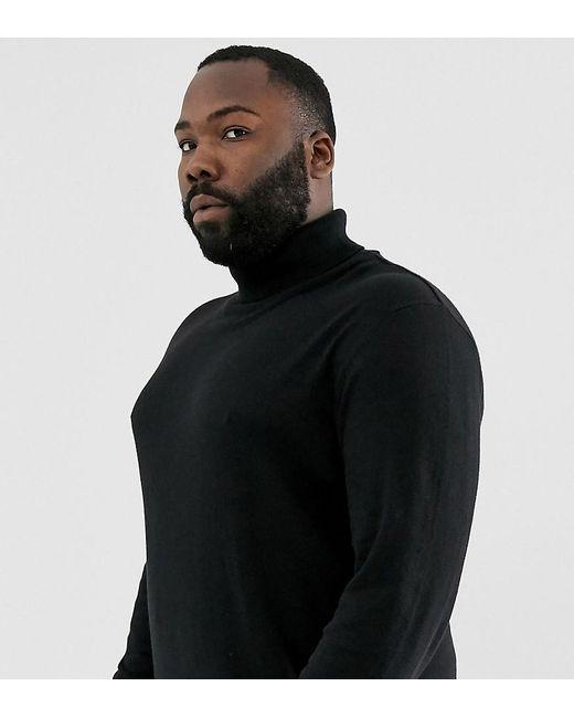 Essentials - Pull col roulé en maille - Noir Jack & Jones pour homme en coloris Black