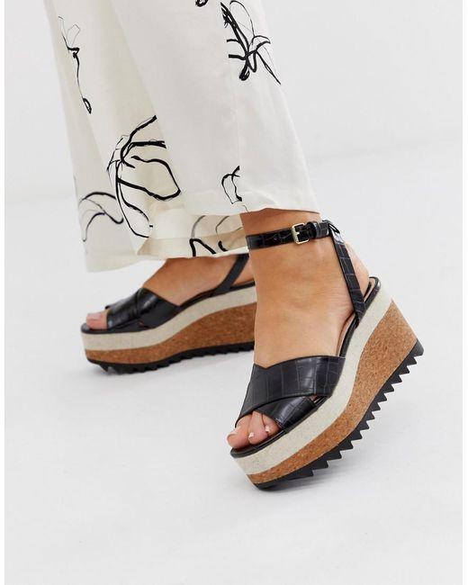 new concept e139f 1d93f Damen Schuhe mit mehrschichtigem Keilabsatz