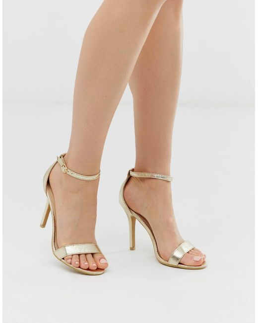 Glamorous Barely There Heeled Sandals