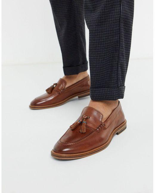 Светло-коричневые Кожаные Лоферы С Кисточками -коричневый Цвет Walk London для него, цвет: Brown