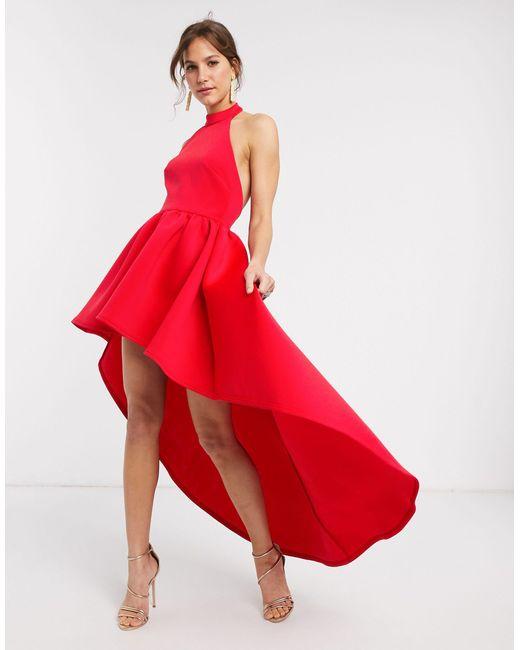 Красное Платье Мини С Асимметричным Краем -красный True Violet, цвет: Red