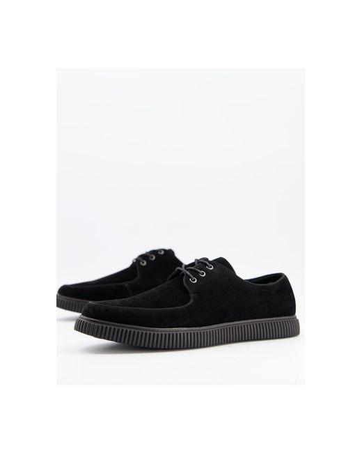 Черные Ботинки-криперы Из Искусственной Замши На Шнуровке ASOS для него, цвет: Black