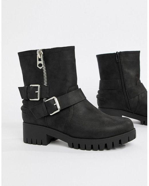 Blink Black Biker Ankle Boots