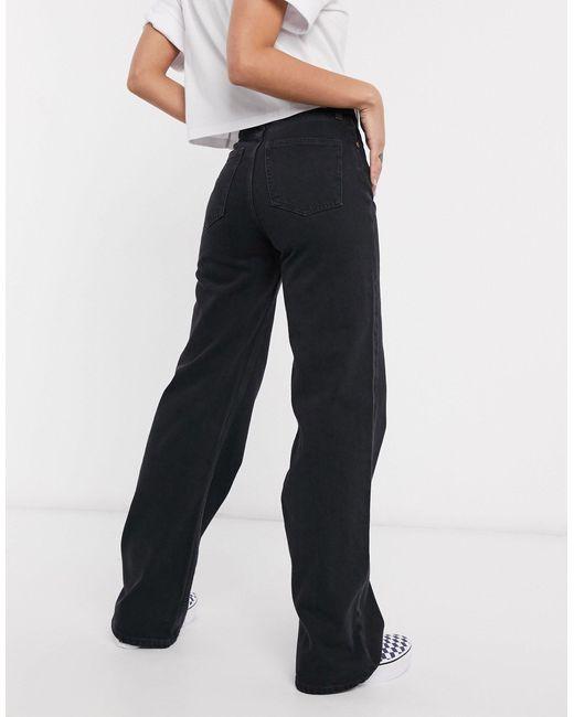 Черные Джинсы Из Органического Хлопка С Широкими Штанинами Yoko-черный Monki, цвет: Black