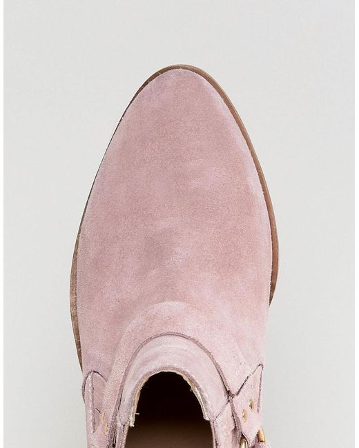 Atlas Blush Suede Western Boots - Pink Office How Much Sale Online Sale With Mastercard Cheap Price Wholesale Cheap Sale The Cheapest BGmOIOPU5