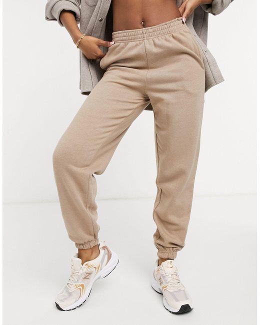 Серовато-бежевые Джоггеры В Стиле Oversized С Манжетами -коричневый Цвет New Look, цвет: Brown