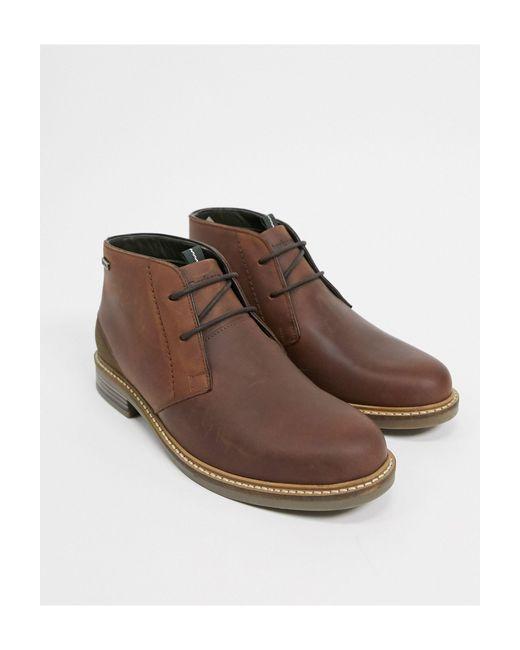 Коричневые Кожаные Ботинки Со Шнуровкой Readhead-коричневый Цвет Barbour для него, цвет: Brown