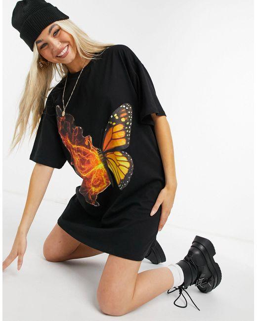 New Girl Order Black Oversized T-shirt Dress