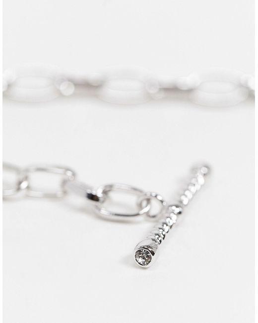 Посеребренный Браслет-цепочка Со Стразами -серебряный Olivia Burton, цвет: Metallic