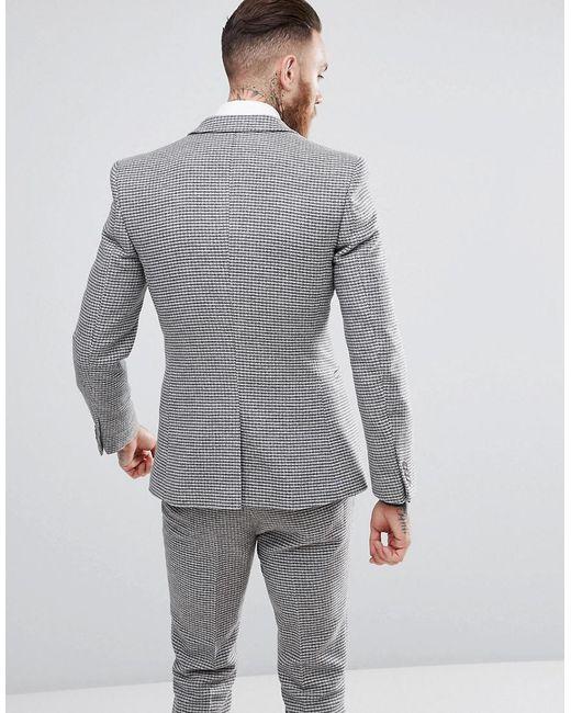 ... ASOS - Gray Veste de costume super slim motif pied-de-poule for Men c589d2f12e5