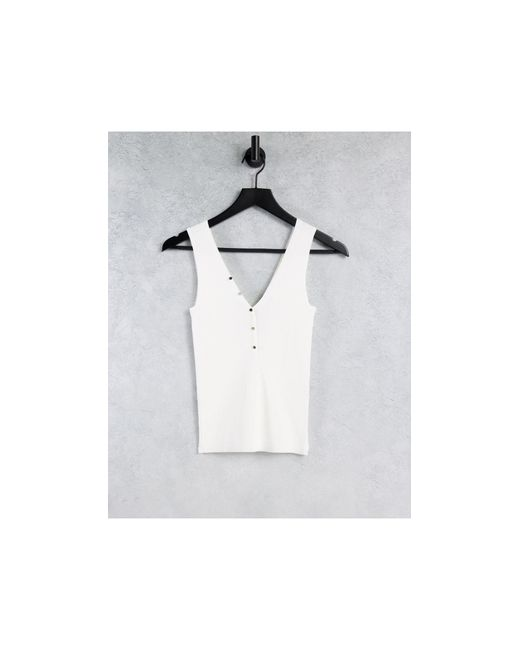 Топ Кремового Цвета Без Рукавов На Пуговицах -белый Morgan, цвет: White