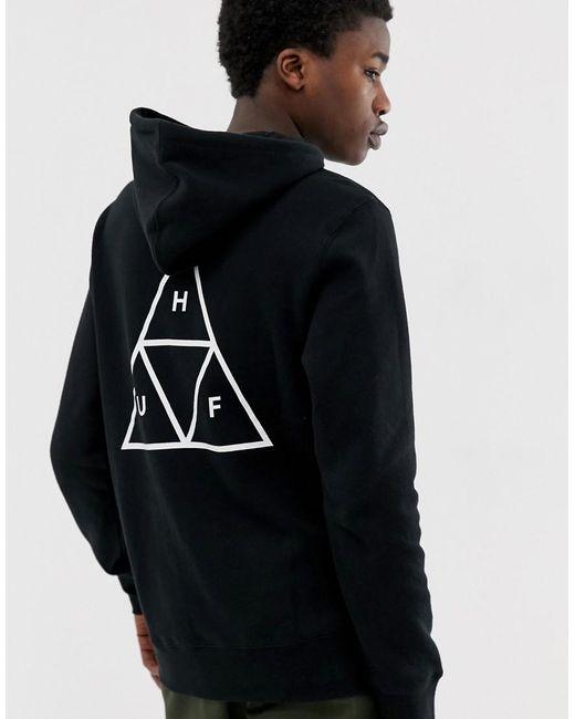 Huf Triple Triangle Hoodie In Black for men