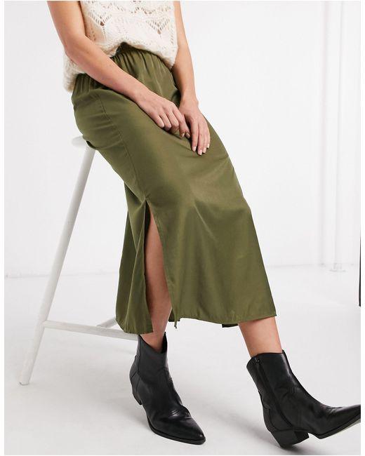 Юбка Миди Оливкового Цвета Eileen-зеленый Object, цвет: Green