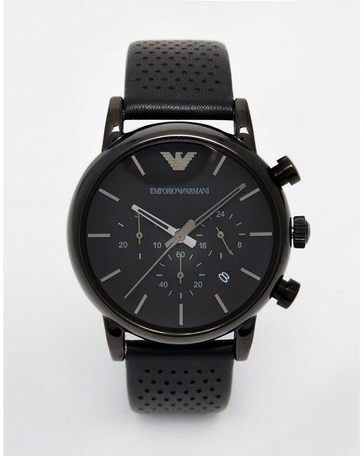 1264a2f5f4a03 Emporio Armani - Black Watch Luigi Ar1737 for Men - Lyst ...
