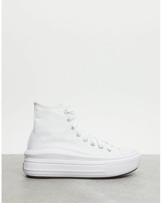 Белые Высокие Кеды На Платформе Chuck Taylor Move-белый Converse, цвет: White