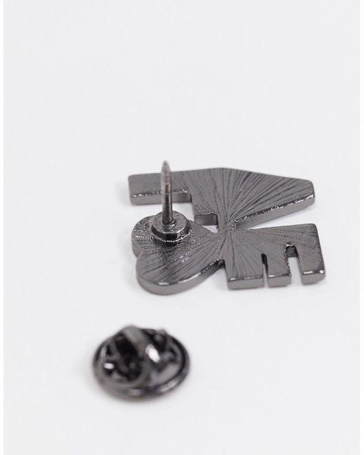 Набор Из 4 Значков ASOS для него, цвет: Metallic