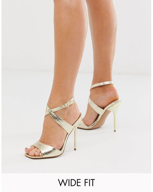 ASOS Wide Fit Weave Barely There Heeled
