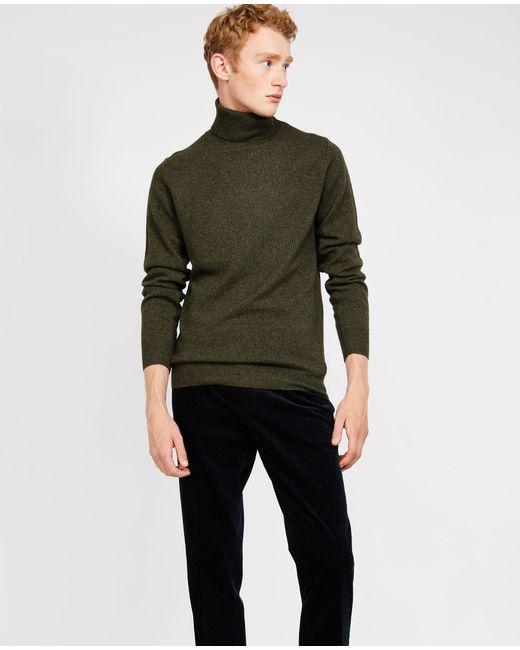 Aspesi - Green Wool Yak Cashmere Sweater for Men - Lyst
