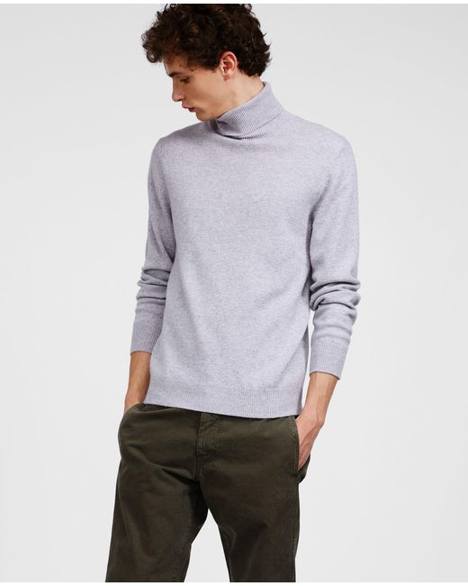 Aspesi - Gray Wool Yak Cashmere Sweater for Men - Lyst