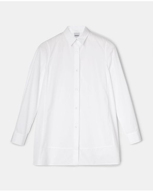 Aspesi Shirts & Tops - Cotton Poplin Shirt White 100% Cotton 38