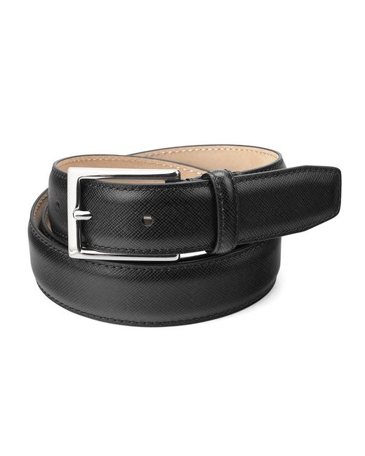 Aspinal - Men's Borough Belt In Black Saffiano for Men - Lyst