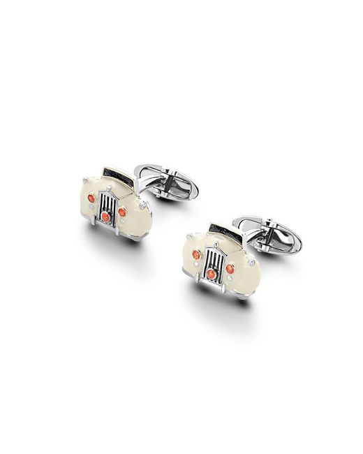 Aspinal - Metallic Sterling Silver & Enamel Rolls Royce Cufflinks for Men - Lyst