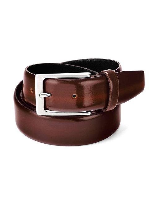 Aspinal - Men's Formal Leather Belt In Brown Shine for Men - Lyst