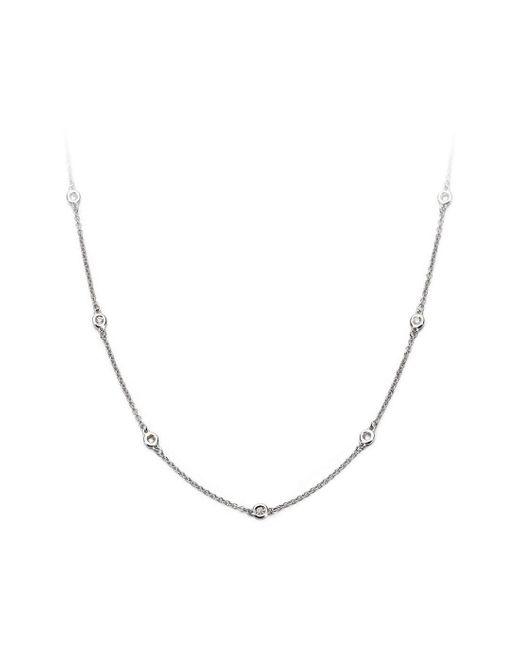 Aspinal Metallic Celeste 18ct White Gold Diamond Necklace