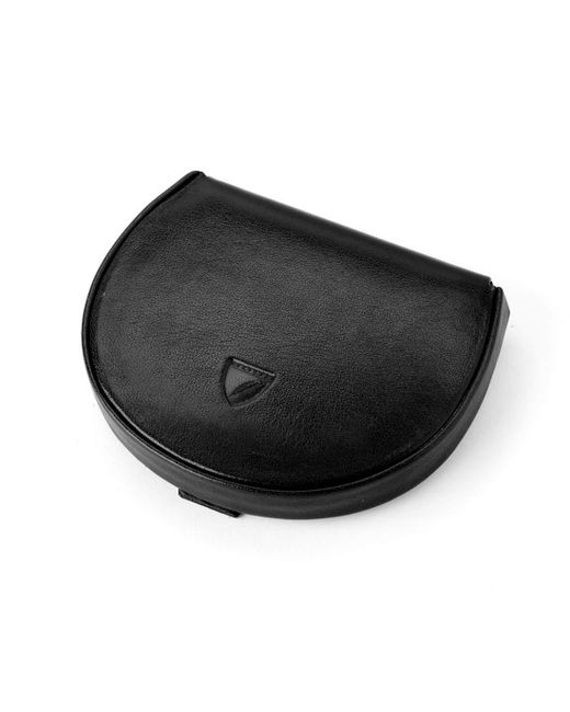 Aspinal Black Handmade Horseshoe Coin Holder