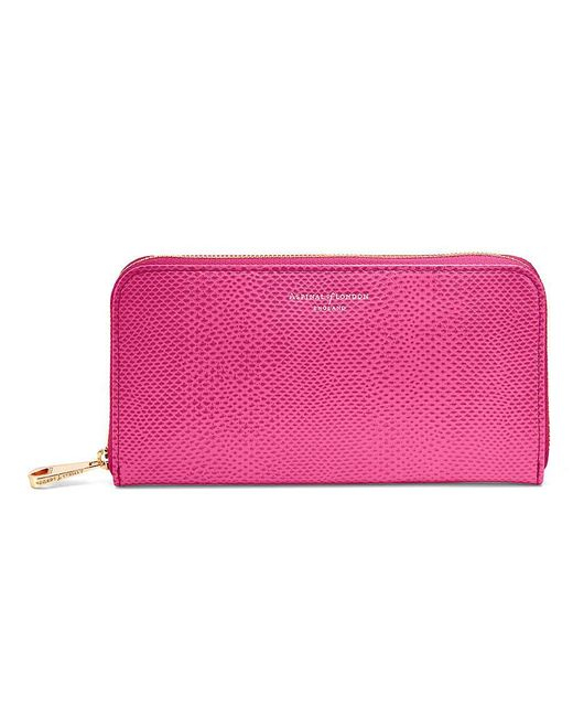 Aspinal - Pink Continential Clutch Wallet - Lyst