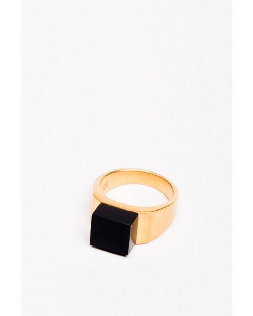 Ming Yu Wang | Metallic Pixel Ring Onyx | Lyst