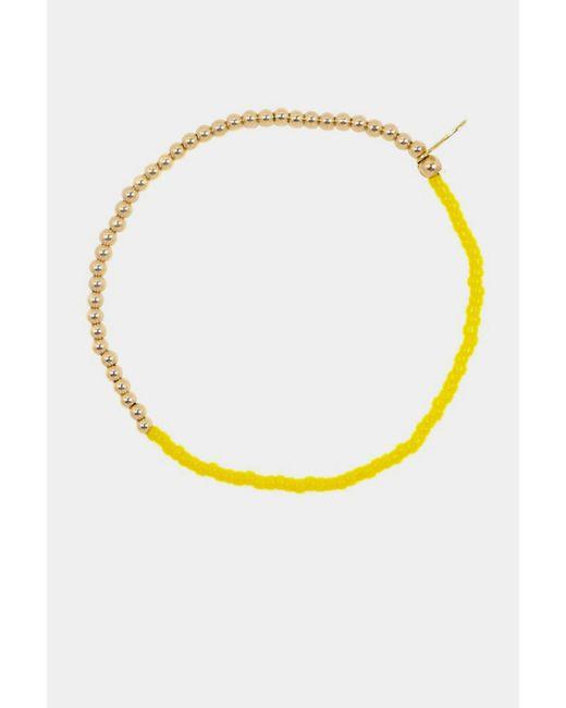 Nektar De Stagni | Yellow Beaded Stretch Bracelet | Lyst