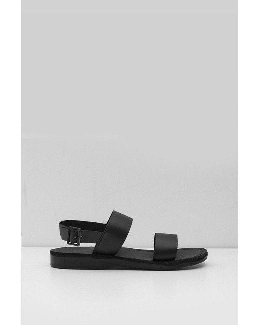 8dbee36d9fd6 Jerusalem Sandals - Black Leather Golan Sandal for Men - Lyst ...
